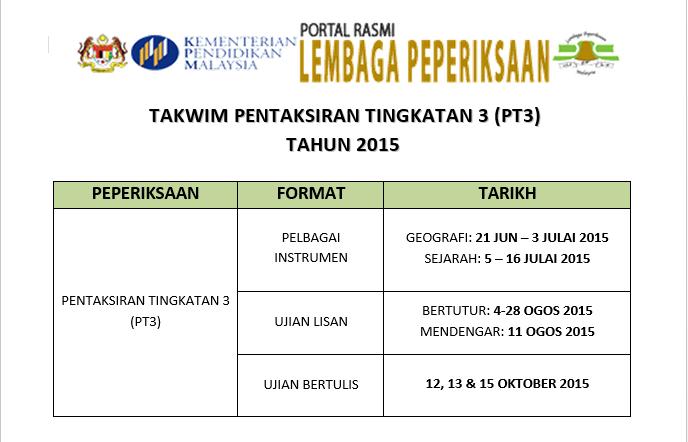 TAKWIM PT3 2015-1